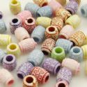 Acrylic beads, Assortment of colours, Irregular shape, 9mm x 7mm x 10mm, 50g, 170 beads, (YKL0006)